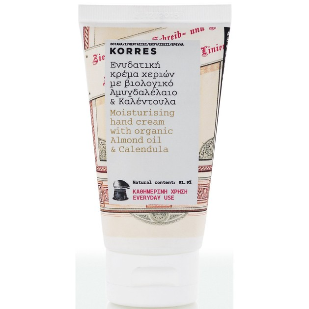 Korres Ενυδατική Κρέμα Χεριών με Αμυγδαλέλαιο & Καλεντούλα 75ml
