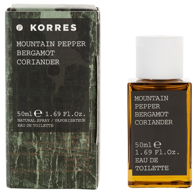 Korres Mountain Pepper, Bergamot & Coriander Eau de Toilette 50ml