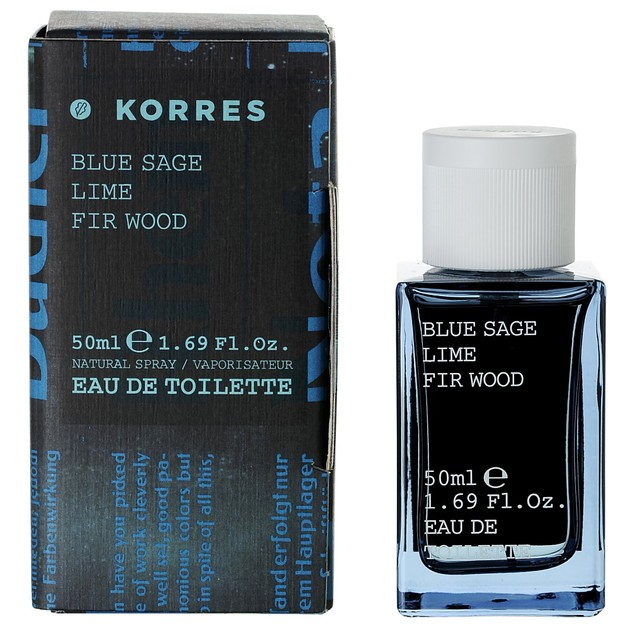 Korres Blue Sage Lime & Fir Wood Eau De Toilette 50ml
