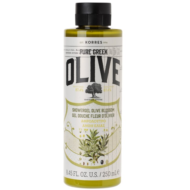 Pure Greek Olive Showergel Olive Blossom 250ml - Korres