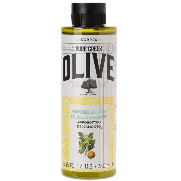 Pure Greek Olive Showergel Bergamot 250ml - Korres