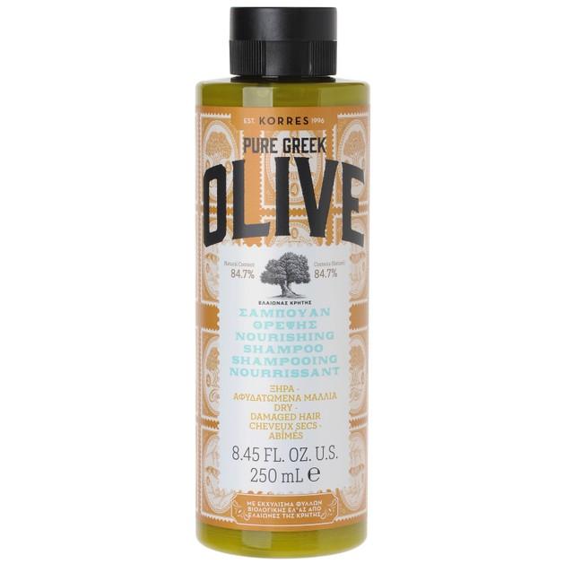 Korres Pure Greek Olive Shampoo για Ξηρά & Αφυδατωμένα Μαλλιά 250ml