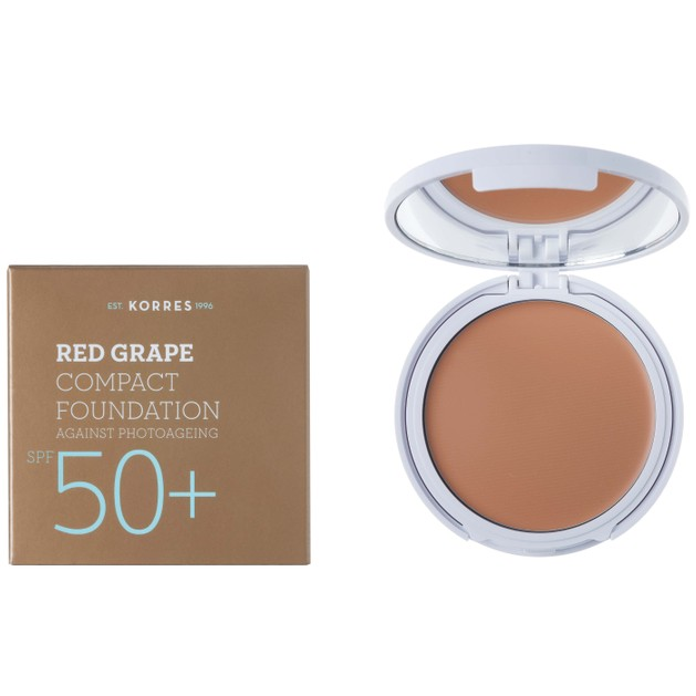 Korres Κόκκινο Σταφύλι Compact Foundation Light Texture Spf50+ 8gr