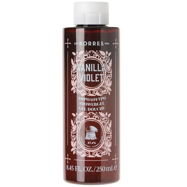Korres Showergel Vanilla Violet 250ml