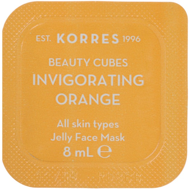 Korres Beauty Cubes Invigorating Orange Jelly Face Mask 8ml