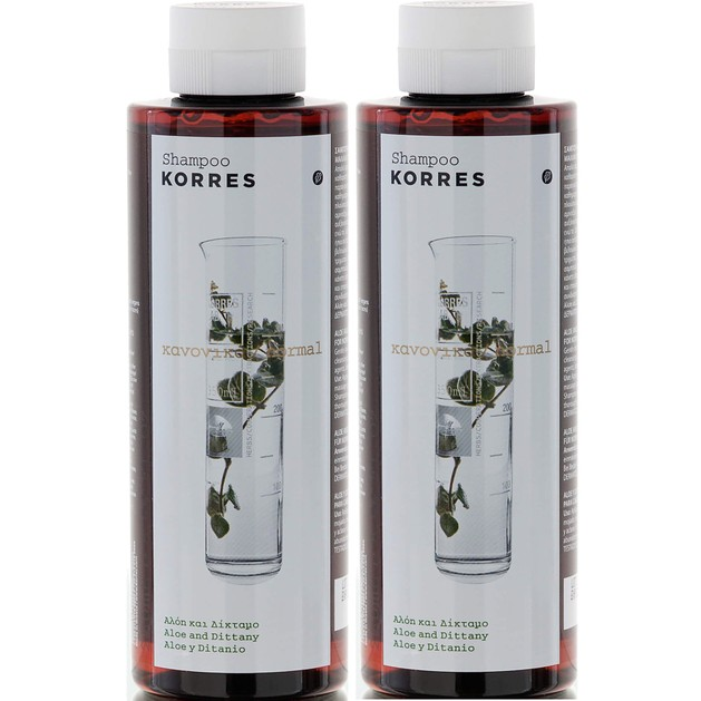 Korres Πακέτο Προσφοράς Aloe & Dittany Shampoo 2x250ml Προσφορά -50% στο 2ο Προιόν