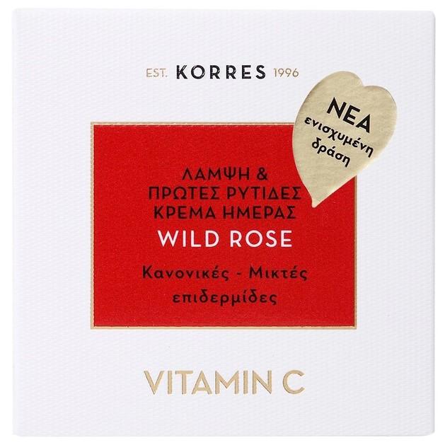 Korres Wild Rose Face Cream για Κανονικές/Μικτές Επιδερμίδες 40ml