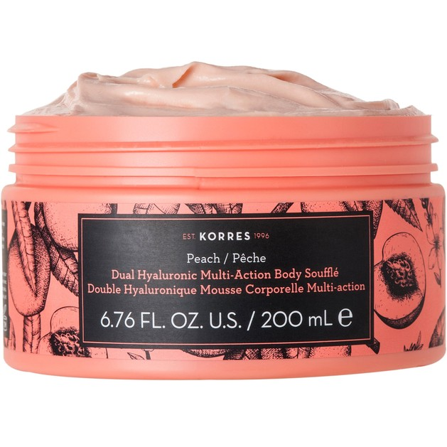 Korres Dual Hyaluronic Multi Action Body Souffle Peach 200ml