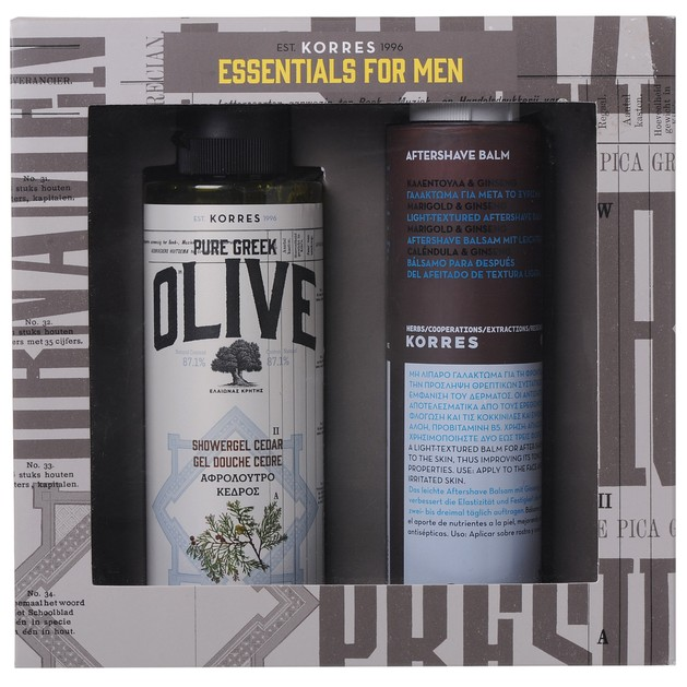Korres Promo Pure Greek Olive Showergel Cedar 250ml & Aftershave Balm 200ml Προσφορά -20%