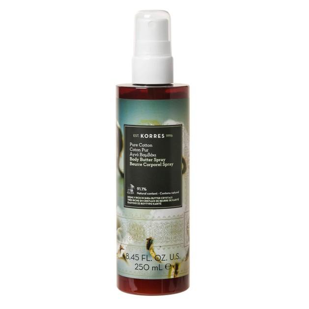 Korres Pure Cotton Body Butter Spray Ενυδατικό Butter Σώματος σε Μορφή Spray με Φρέσκο & Γλυκό Άρωμα Ίριδας & Βαμβακιού 250ml