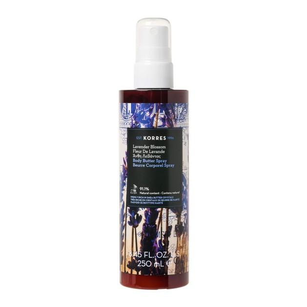 Korres Lavender Blossom Body Butter Spray Ενυδατικό Butter Σώματος σε Μορφή Spray με Δροσερό Άρωμα Λεβάντας 250ml