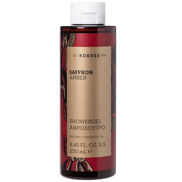Korres Saffron Amber Showergel Αφρόλουτρο με Γλυκές, Ζεστές Αρωματικές Νότες για την Γυναικεία Επιδερμίδα 250ml