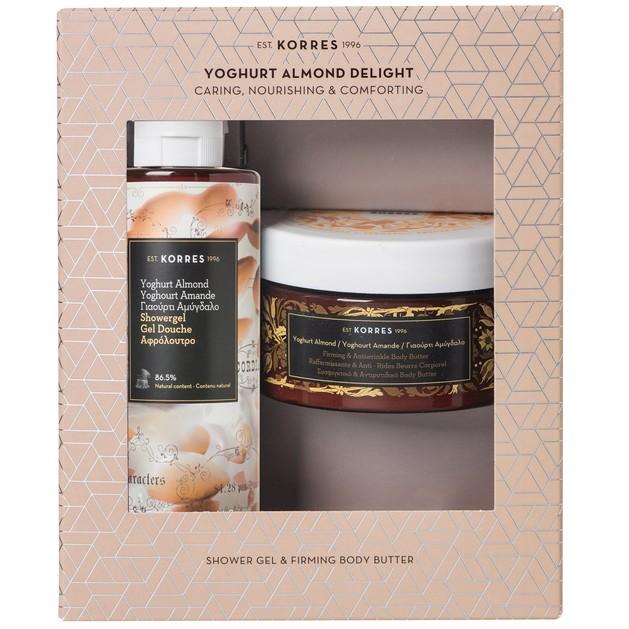 Korres Πακέτο Προσφοράς Yoghurt Almond Showergel 250ml & Firming Body Butter 200ml σε Ειδική Τιμή