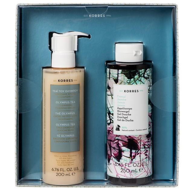 Korres Πακέτο Προσφοράς Olympus Tea Cleansing Foaming Cream 200ml & Jasmine Showergel 250ml σε Ειδική Τιμή