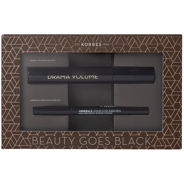 Korres Πακέτο Προσφοράς Drama Volume Mascara Black 11ml & Minerals Liquid Eyeliner Pen Black 1ml σε Ειδική Τιμή