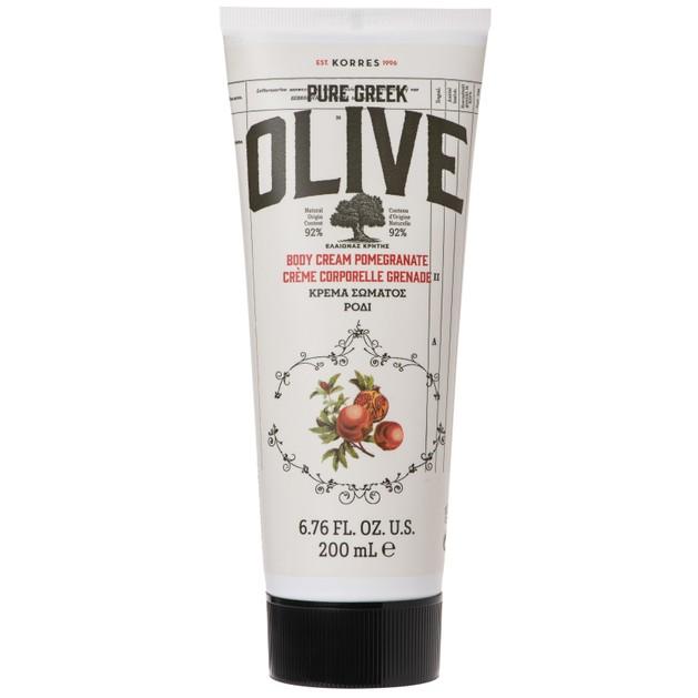 Korres Pure Greek Olive Body Cream Pomegranate Ενυδατική Κρέμα Σώματος με Εξαιρετικό Παρθένο Ελαιόλαδο & Άρωμα Ρόδι 200ml
