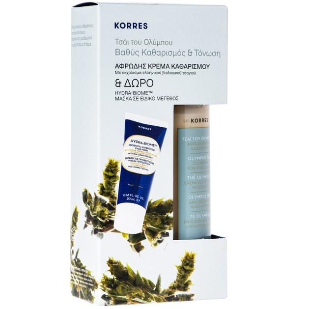 Korres Πακέτο Προσφοράς Olympus Tea Cleansing Foaming Cream 200ml & Δώρο Hydra-Biome Superdose Μάσκα Προβιοτικών 20ml