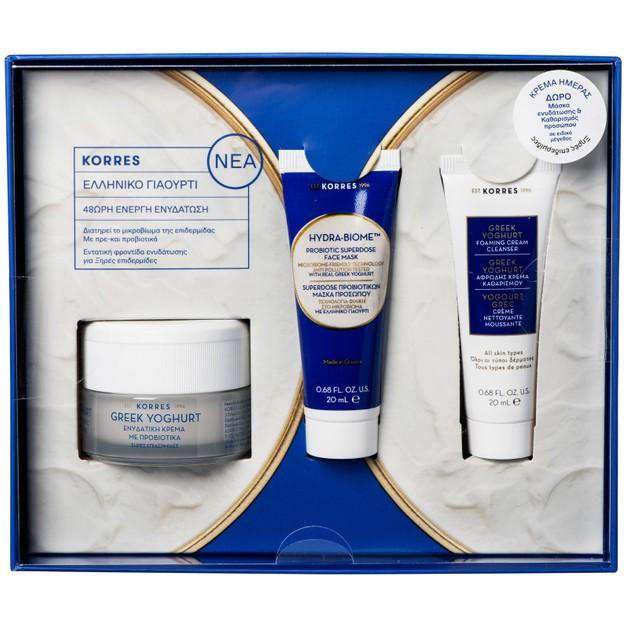 Korres Promo Greek Yoghurt Cream Ξηρές Επιδερμίδες 40ml & Δώρο Hydra-Biome Probiotic Mask 20ml, Foaming Cream Cleanser 20ml