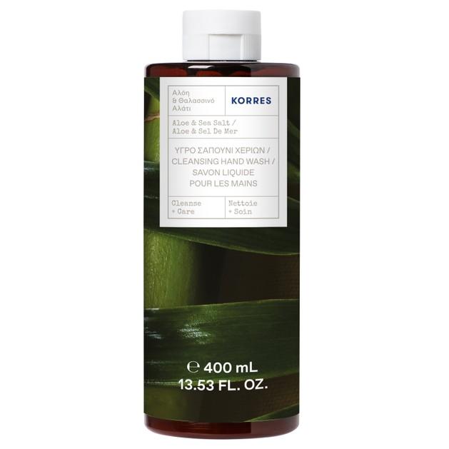 Korres Cleansing Hand Wash Refill Υγρό Σαπούνι Χεριών με Αλόη & Θαλασσινό Αλάτι 400ml