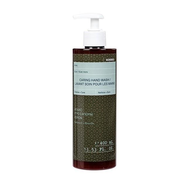 Korres Caring Hand Wash Απαλό Υγρό Σαπούνι Χεριών με Αλόη 400ml