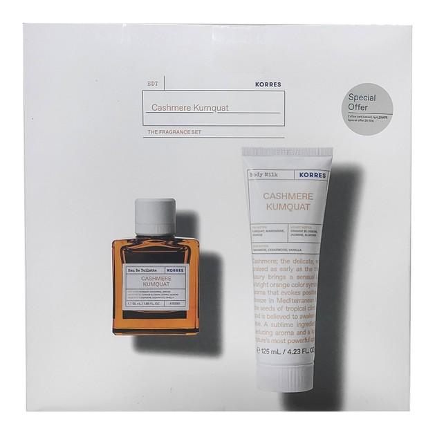 Korres Promo Cashmere Kumquat Eau De Toilette 50ml & Cashmere Kumquat Moisturizing Body Milk 125ml σε Ειδική Τιμή