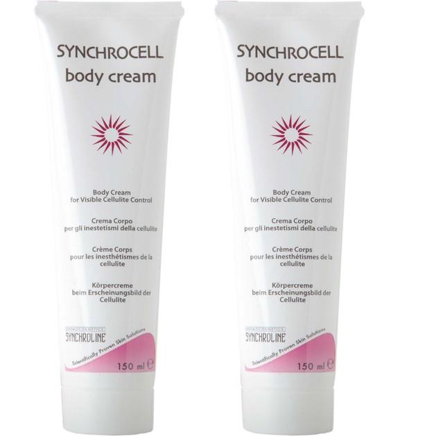 Synchroline Synchrocell Body Cream Κρέμα Σώματος για την Καταπολέμηση της Κυτταρίτιδας, 2x150ml 1+1 Δώρο