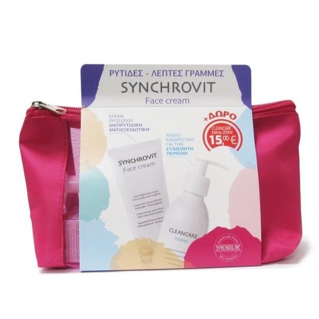 Synchroline Synchrovit Face Cream Αντιρυτιδική Κρέμα Προσώπου 50ml & Δώρο Cleancare Intimo pH4.5 για την Ευαίσθητη Περιοχή 200ml