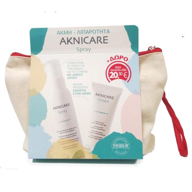 Synchroline Πακέτο Προσφοράς Aknicare Spray 100ml & Δώρο Aknicare Cream 50ml σε Ειδική Τιμή