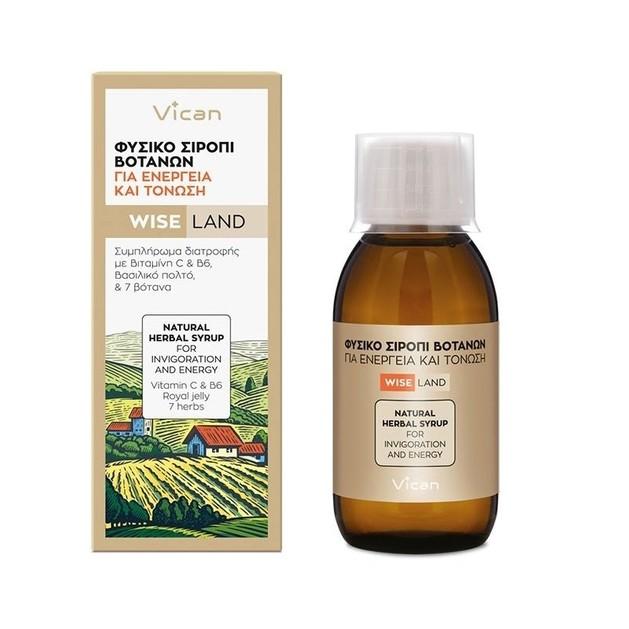 Vican Wise Land Φυσικό Σιρόπι Βοτάνων για Ενέργεια και Τόνωση 120ml