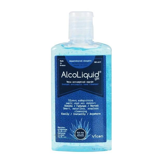 Vican AlcoLiquid Gel Ήπιο Αντισηπτικό Χεριών με 72,9% v/v Περιεκτικότητα σε Οινόπνευμα 100ml