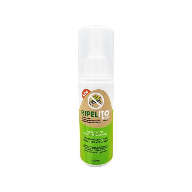 Ripelito Spray Εντομοαπωθητικό που Απωθεί Αποτελεσματικά Κουνούπια Μύγες και Σκνίπες 100ml