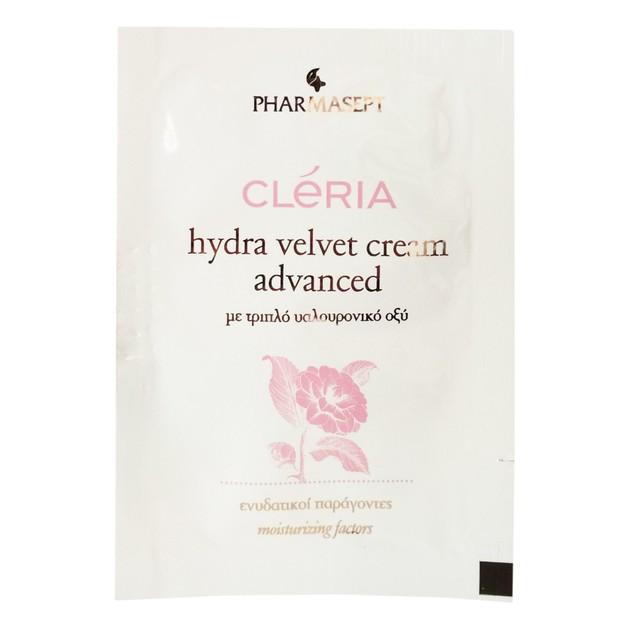 Δείγμα Pharmasept Cleria Hydra Velvet Cream Advanced 24ωρη Κρέμα Βαθιάς Ενυδάτωσης για Όλους Τους Τύπους Δέρματος 2ml