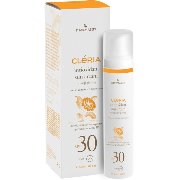 Pharmasept Cleria Antioxidant Sun Cream Spf30, 50ml