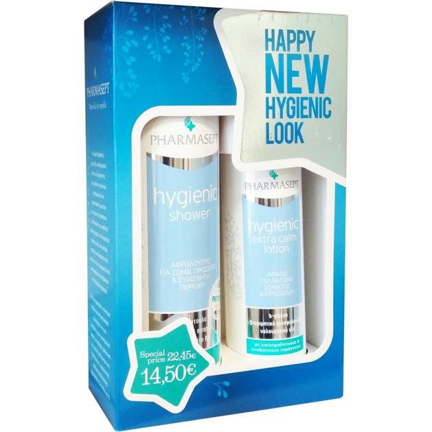 Pharmasept Xmas Promo Pack Tol Velvet Hygienic Shower 500ml & Hygienic Extra Calm Lotion 250ml