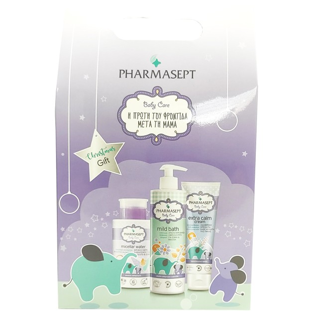 Pharmasept Baby Care Christmas Gift Baby Care Mild Bath 500ml & Micellar Water 300ml & Extra Calm Cream 150ml