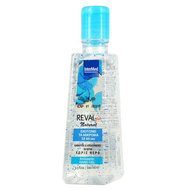 Intermed Reval Plus Natural Antiseptic Hand Gel Αντιβακτηριδιακό Τζελ Χεριών με Φυσικό Άρωμα 100ml