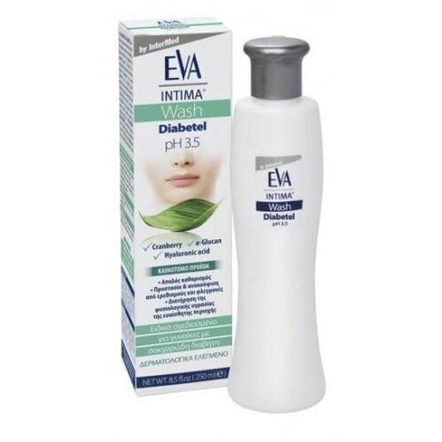 Eva Intima Wash Diabetel Καθημερινός Καθαρισμός της Ευαίσθητης Περιοχής Διαβητικών Γυναικών 250ml