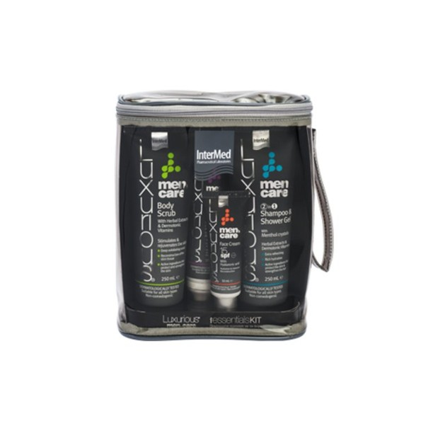 Luxurious Men \'s Care Daily Essentials Kit Ολοκληρωμένη Καθημερινή Περιποίηση για τον \'Αντρα 4 Τεμάχια