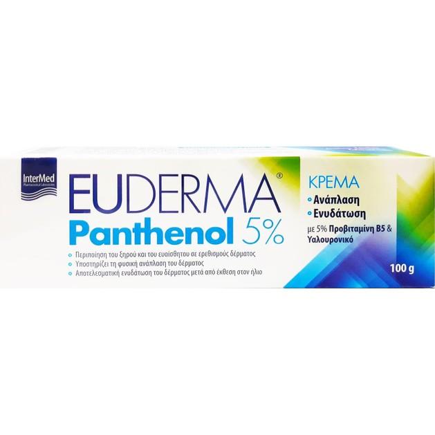 Intermed Euderma Panthenol 5% Ενυδατική Κρέμα για Ανάπλαση 100gr