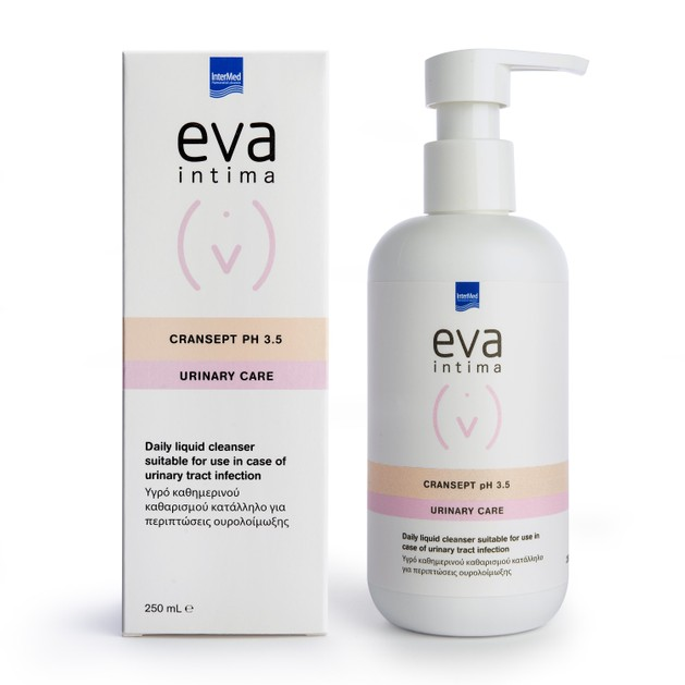 Intermed Eva Intima Cransept PH3.5 Urinary Care Υγρό Καθημερινού Καθαρισμού Ευαίσθητης Περιοχής Κατάλληλο για Ουρολοίμωξης 250ml