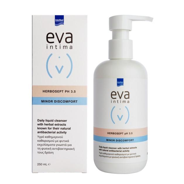 Intermed Eva Intima Herbosept PH3.5 Minor Discomfort Αντιβακτηριακό Υγρό Καθημερινού Καθαρισμού Ευαίσθητης Περιοχής 250 ml