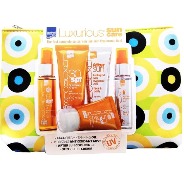 Luxurious Set Face Cream Spf50 40ml & Sunscreen Cream Spf30 75ml & After Sun 75ml & Tanning Oil Spf6 50ml & Hydrating Mist 50ml
