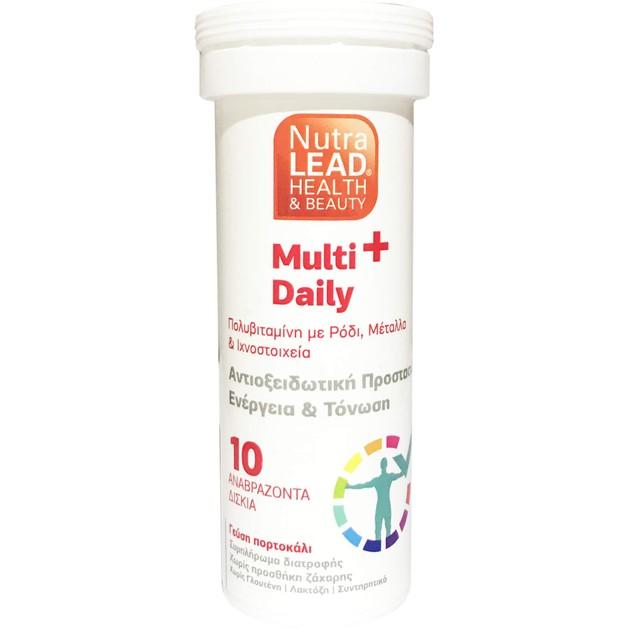 Δώρο NutraLead Multi+ Daily Πολυβιταμίνη με Ρόδι, Βιταμίνες, Μέταλλα & Ιχνοστοιχεία με Γεύση Πορτοκάλι 10Effer.Tabs