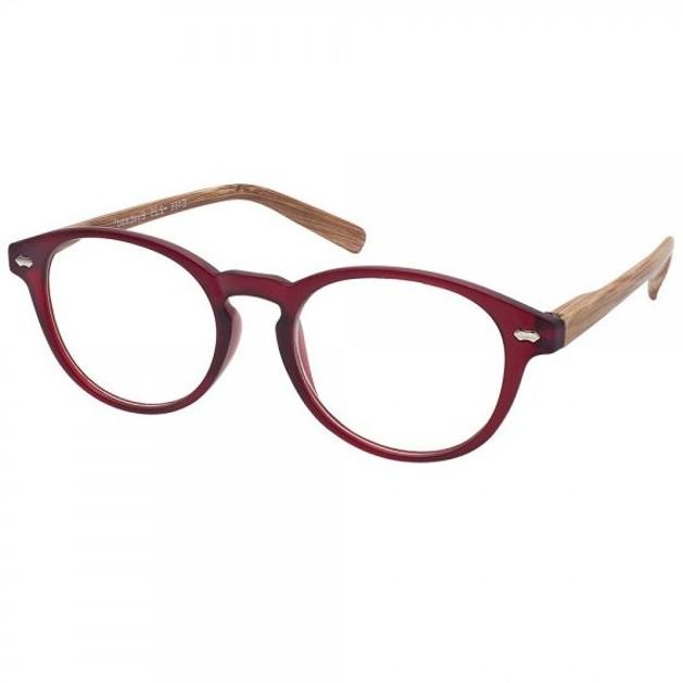 Eyelead Γυαλιά Διαβάσματος Unisex Μπορντώ με Ξύλινο Βραχίονα Ε186