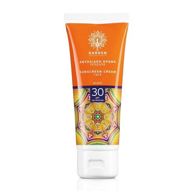 Garden Of Panthenols Sunscreen Face Cream Spf30 Αντηλιακή Κρέμα Προσώπου Λαιμού Υψηλής Προστασίας 50ml