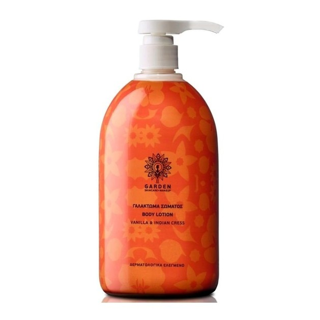 Garden of Panthenols Body Lotion Vanilla & Indian Cress Γαλάκτωμα Σώματος 1Lt