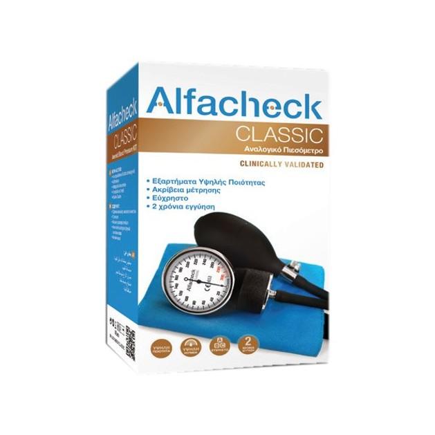 Alfacheck Classic Aneroid Blood Pressure Kit Αναλογικό Πιεσόμετρο 1 Τεμάχιο