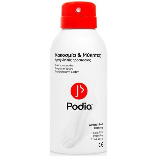 Podia Athlete\'s Foot DeoSpray Κακοσμία & Μύκητες Spray Διπλής Προστασίας 150ml