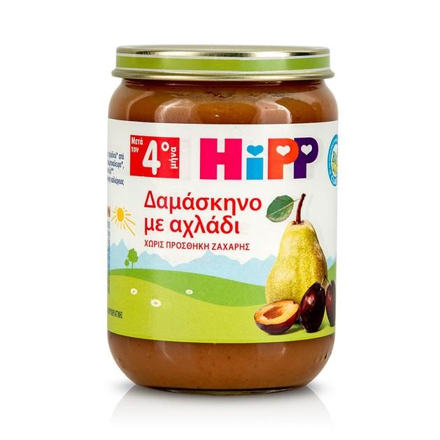 HIPP Φρουτόκρεμα με Δαμάσκηνο & Αχλάδι μετά τον 4ο μήνα 190gr, -20%