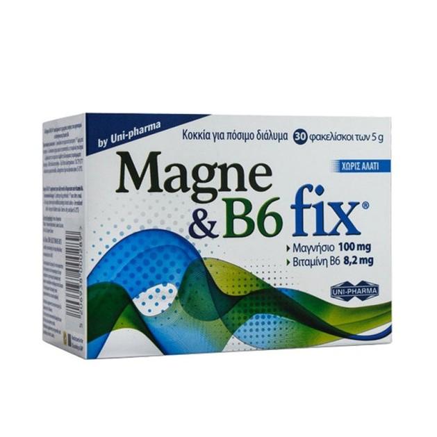 Uni-Pharma  Magne & B6 Fix Μαγνήσιο και Βιταμίνη Β6 30Effer.Tabs